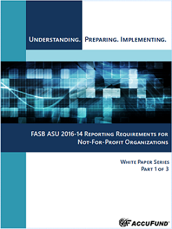 FASB ASU 2016-14 White Paper for Nonprofits