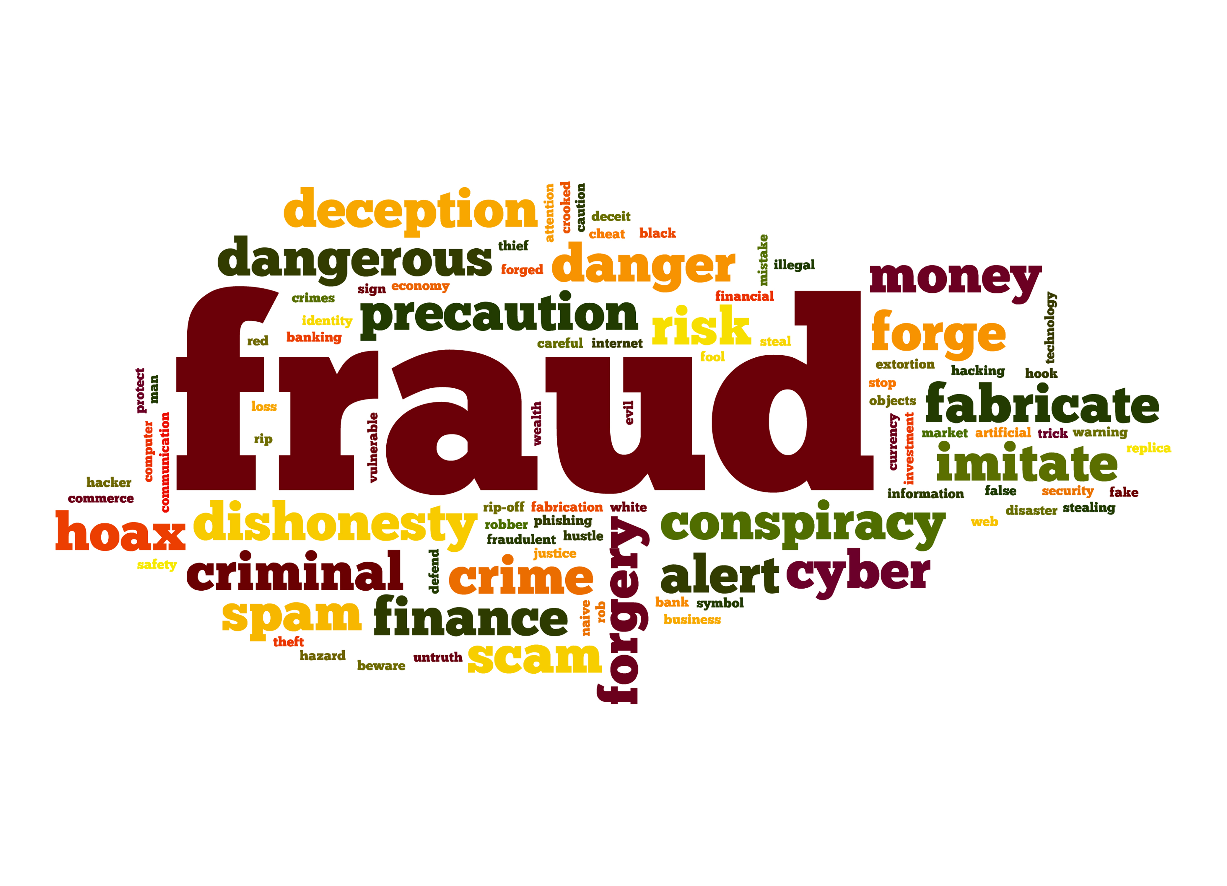 Fraud word graphic